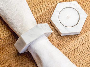 Plato's Marbles Napkin Ring Tealight Holder